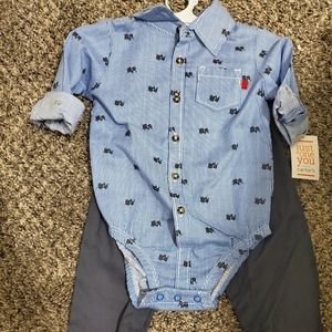NWT- Button down shirt and pants
